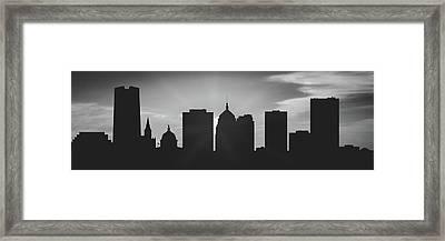 Oklahoma City Sunset Usokoc-pa02 Framed Print