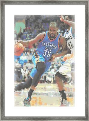Oklahoma City Thunder Kevin Durant Framed Print