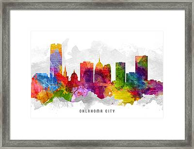 Oklahoma Cityscape 13 Framed Print by Aged Pixel