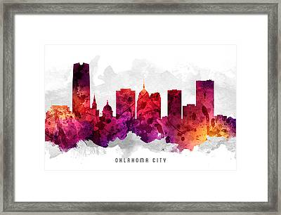 Oklahoma Cityscape 14 Framed Print by Aged Pixel