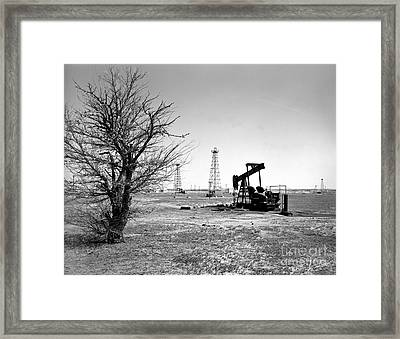 Oklahoma Oil Field Framed Print