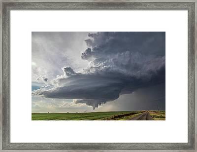 Oklahoma Panhandle Swirl Framed Print