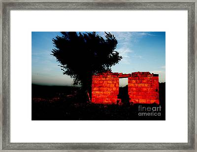 Oklahoma Ruins Framed Print