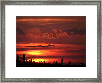 Oklahoma Sky At Daybreak  Framed Print