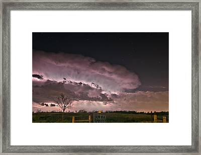 Oklahoma Sky Of Fire Framed Print
