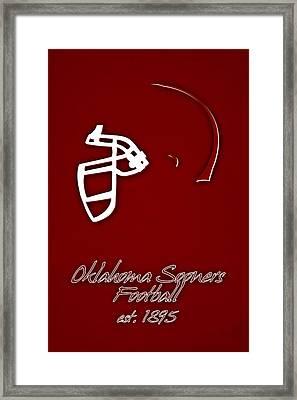 Oklahoma Sooners Helmet Framed Print by Joe Hamilton
