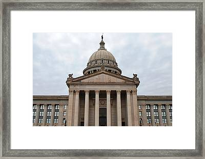 Oklahoma State Capitol - Front View Framed Print