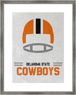 Oklahoma State Cowboys Vintage Football Art Framed Print
