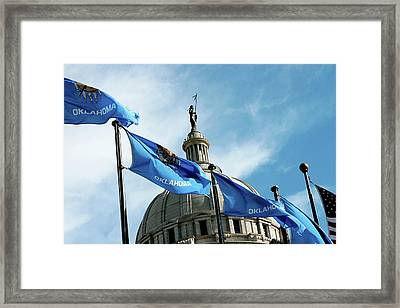 Oklahoma  Framed Print by Toni Hopper