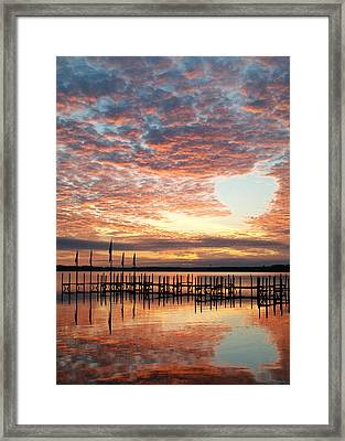Okoboji Sunrise Framed Print by Laura Snyder
