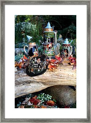 Oktoberfest Beer Garden Framed Print