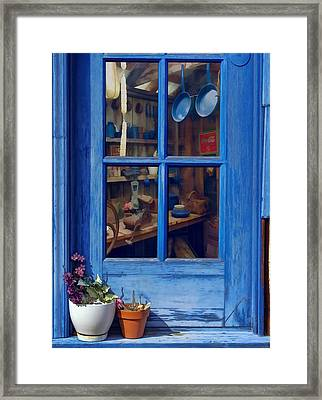 Ol' Country Store Window Framed Print