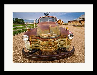 Truck Grill. Fence Framed Prints