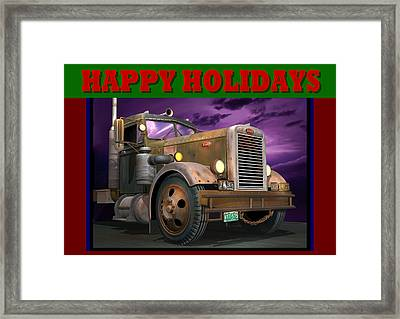 Ol' Pete Happy Holidays Framed Print by Stuart Swartz