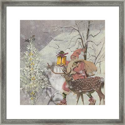 Ol' Saint Nick Framed Print by Diana Boyd