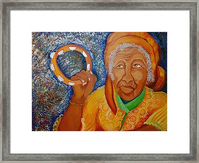 Ol Woman Framed Print by Kenji Lauren Tanner