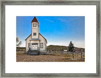 Ola Community Church Framed Print by Robert Bales