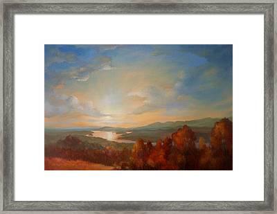 Olana Rejoices Framed Print by Kevin Palfreyman