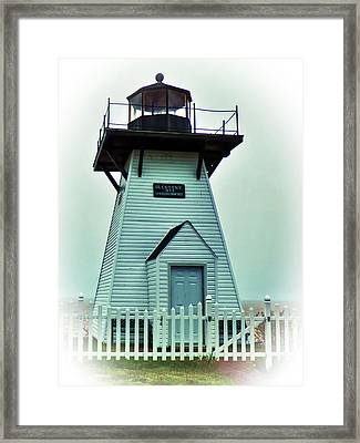 Olcott Lighthouse Framed Print by Leslie Montgomery