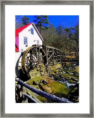 Old 1886 Mill Framed Print by Karen Wiles