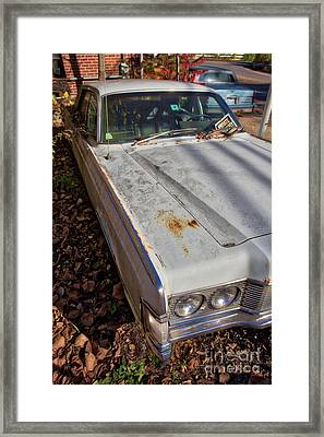 Framed Print featuring the photograph Old Abandoned Car Weare New Hampshire by Edward Fielding