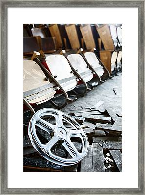Old Abandoned Cinema - Neglected Movies Framed Print by Dirk Ercken