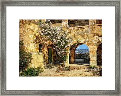 Old Abandoned Hospital In Comino Framed Print by Stephan Grixti