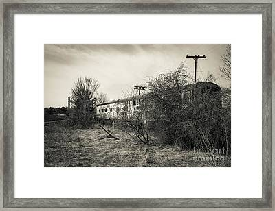 Framed Print featuring the photograph Old Abandoned Railroad Passenger Car Cape Cod by Edward Fielding