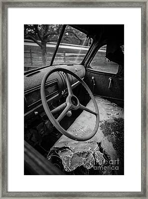 Old Abandoned Truck Interior Framed Print by Edward Fielding