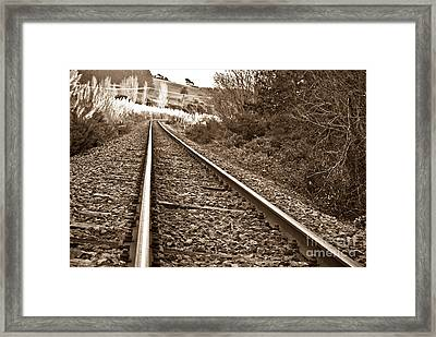 Framed Print featuring the photograph Old Abundant Railway by Yurix Sardinelly