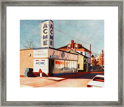 Old Acme Lambertville Nj Framed Print by Robert Henne