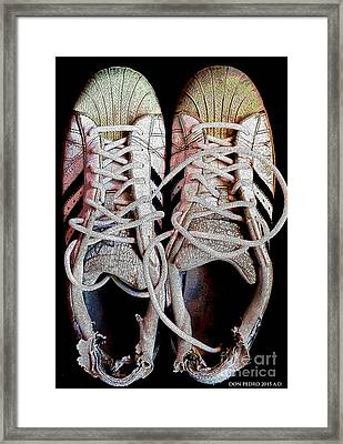 Framed Print featuring the photograph Old Adidas Supestar II by Don Pedro De Gracia