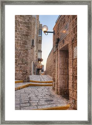 Old Alley In Mid-eastern City Framed Print by Noam Armonn