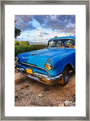 Old American Classic Car In Trinidad, Cuba Framed Print by Mikko Palonkorpi