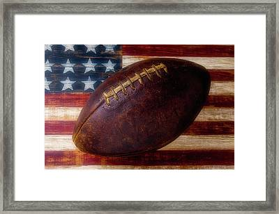 Old American Football Framed Print