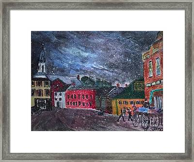 Old Amesbury Early Winter Framed Print