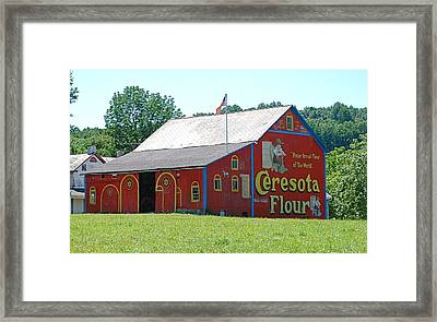 Old Amish Barn Framed Print by Kathy Gibbons