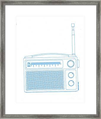 Old Analog Radio Framed Print