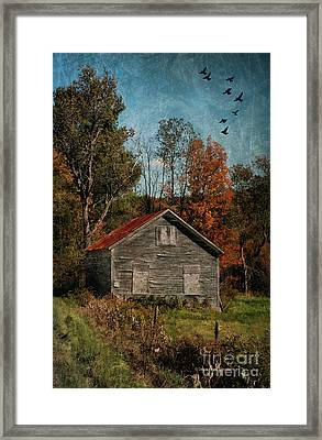 Old And Abandoned In Vermont Framed Print by Deborah Benoit