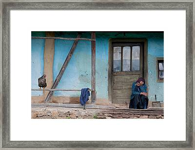 Old And Blue Framed Print