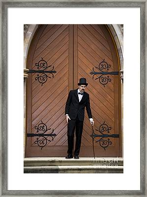 Old And Frail Mortician Framed Print