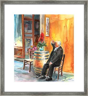 Old And Lonely In Italy 02 Framed Print by Miki De Goodaboom