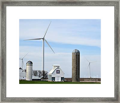 Old And New Farm Site Framed Print by Kathy M Krause