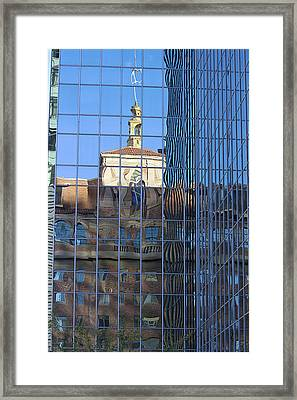 Framed Print featuring the photograph Old And New Patterns by Phyllis Denton