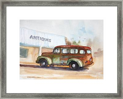 Old And Rusty Framed Print by Bobby Walters