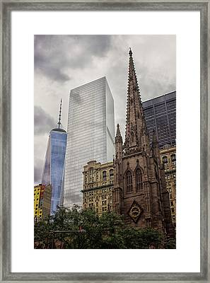 Old And The New Framed Print by Martin Newman