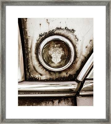 Framed Print featuring the photograph Old And Worn Packard Emblem by Marilyn Hunt