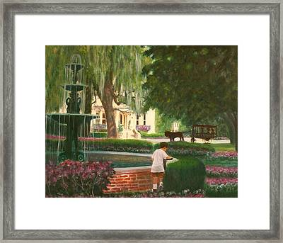 Old And Young Of Savannah Framed Print by Ben Kiger