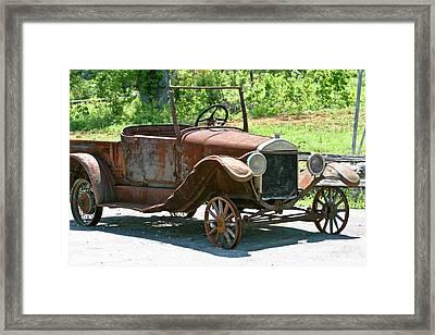 Old Antique Vehicle Framed Print by Douglas Barnett
