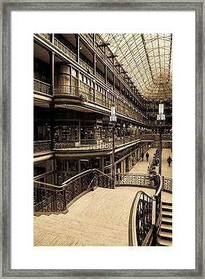 Old Arcade Framed Print